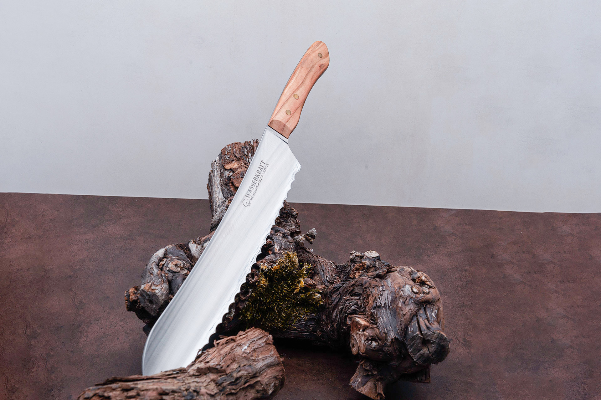 """Handgefertigte Messer aus der Messermanufaktur Solingen """"BROTMESSER WASSERKRAFT SERIE ANNO 2015"""""""