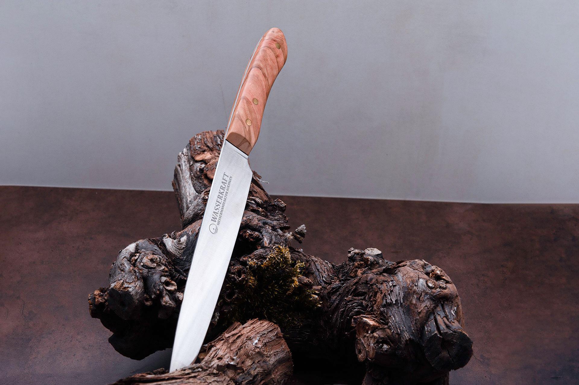 """Handgefertigte Messer aus der Messermanufaktur Solingen """"SCHINKENMESSER WASSERKRAFT SERIE ANNO 2015"""""""