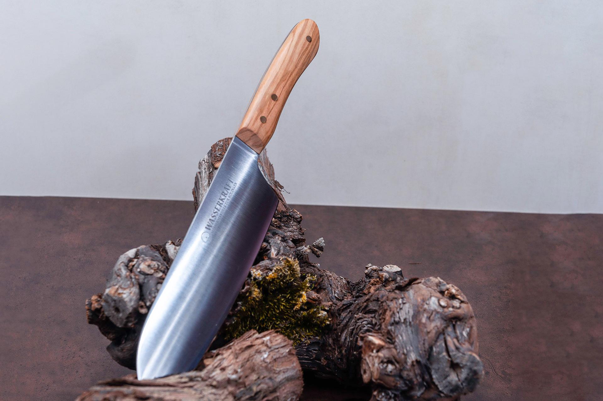 """Handgefertigte Messer aus der Messermanufaktur Solingen """"SANTOKU WASSERKRAFT SERIE ANNO 2015"""""""