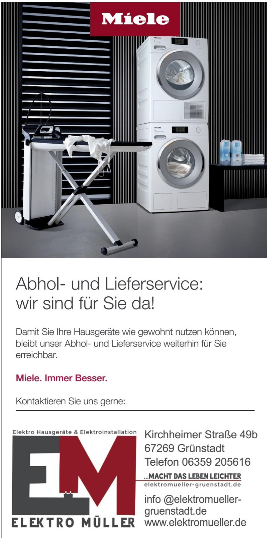 Abhol- und Lieferservice Elektro Müller