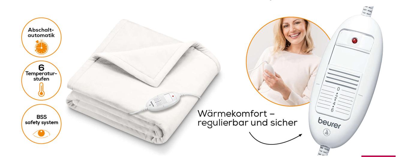 Beurer Wärmezudecke HD 75 Cosy Weiß 5