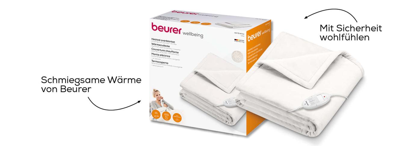 Beurer Wärmezudecke HD 75 Cosy Weiß 3